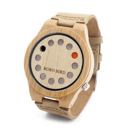 2017 trous bois 12 trous marque célèbres montres en bambou de marque bracelet en cuir véritable montres en bois unisexe avec boîte cadeau montres en bois de luxe pour hommes les femmes bon marché trous bois