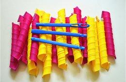 18pcs set 55CMx3CM DIY Magic Hair Curler hair Rollers Magic Circle Hair Styling Rollers Curlers 18pcs+hook Wholesale ELC005