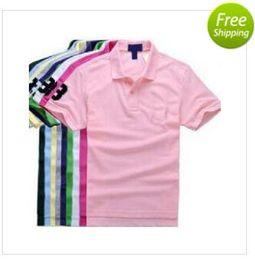 Wholesale 2016 New Arrival mens brand fashion shirt Short Sleeve Polos Shirt golf shirt men s casual T Shirt sport shirt for men Cotton plus size