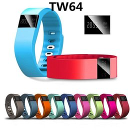 Wholesale Tw64 Sport Bluetooth Bracelet Smart Watch Healthy Silicone Wristband Time caller Id alarm pedometer Sleep Monitor for Ios Android