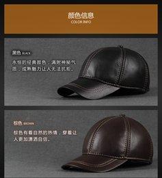 Wholesale real leatherMen s leather hat flat cap theMen s new sheepskin leather hat baseball cap spring fall and winter sheepskin cap si