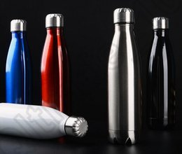 Wholesale 500ml Swell Water Bottle Stainless Steel Cola Bowling Shape Termos Travel Mugs Vacuum Insulation Cups OOA811