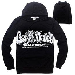 Wholesale Gas Monkey Garage Clothes New Autumn XXXL Hoodies Men Long Sleeve Black Sweatshirt Men Hip Hop Jacket