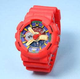 Wholesale sports watch ga110 Men wristwatch matt black gold Analog Digital Watch relogio masculino reloj LED date Watches