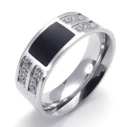 073873-Wholesale New Zircon ring crown rings mens promise rings stainless steel genuine high-purity men's rings US size:8-13