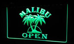LS479-g Malibu Beer OPEN Bar Neon Light Sign