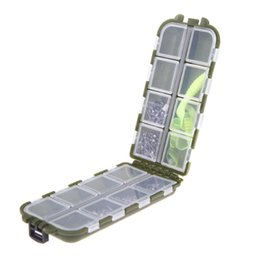 Wholesale Small Compartment Storage Boxes - Hot Selling 1Pc Army Green Plastic Fishing Tackle Box Small Accessories Fishing Lure Spoon Hook Bait 8 Compartments Storage Case