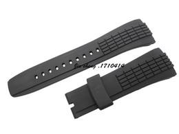 Regarder bracelet en caoutchouc noir en Ligne-26mm (20mm Boucle) Montre en caoutchouc MAN NOUVEAU Top Grade noir plongée sous-marine silicone BANDES sangle pour SEI KO WATCH