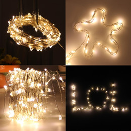 Edison2011 2M 20LEDs Mini LED LED Copper Wire String Light Waterproof Try Battery Fairy Sparkle Lights RGB Yellow while Decoration Free DHL