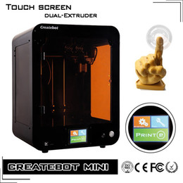 Wholesale Createbot Brand D Printer China New Desktop Touch Screen D Printer Kit Dual Extruder Heat Bed Impressora D Fit PLA ABS Filament