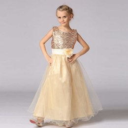 2016 new children dress princess skirt wearing sequined belt length dress suitable for children of 3-16 years old children