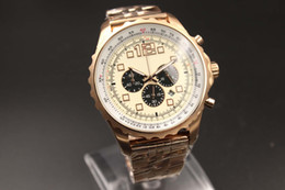 New Arrival Fine Brand White Dial Gold Case Gold Steel Band Ti3 Zone Fluted Case Special High Quality Male Watch