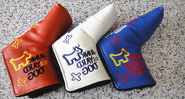 Wholesale Hot cool Brands Custom Products New style most recent release golf club PU headcover Small Cattle colors head putters cover free shi