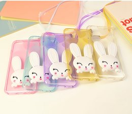 Wholesale China Supplier Clear Soft TPU Mobile Phone Cover Rabbit Ears Stand Cases For iPhone plus plus Back Cover Cases