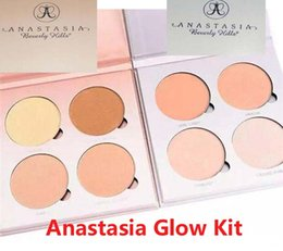 Wholesale Anastasia light emitting devices line light sunshine face powder of contour toolkit bronzer highlighter cosmertic1 pieces on sale