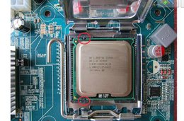 Wholesale Intel Xeon E5450 GHz M Processor close to LGA775 Core Quad Q9650 CPU works on LGA mainboard no need adapter