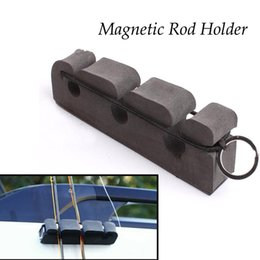 Wholesale Portable Gray Soft Foma Fly Fishing Rod Magnetic Holder amp Stand Car panels Attaches Fishing Rod Holder