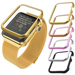 Apple Watch Metal Case 38MM 42MM Gold Black Gun Plated Stainless Steel Protective Bumper Case Cover for iWatch Series 1  Series 2