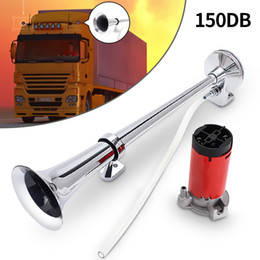Wholesale Universal Single Trumpet Air Horn dB V Chrome Super Loud For Truck Lorry Boat Train AUP_50F