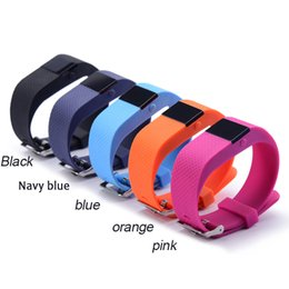 Wholesale Newest TW64S Waterproof Wristband Heart Rate Monitor Pulse tracker Smartband OLED Waterproof Bracelet with Pedometer mixed colors