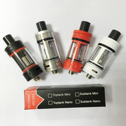 Single Kangertech Toptank Mini Atomizer Black White SS Red Color Kanger Sub Ohm Tank for subox KBOX topbox Mini VS kanger subtank mini