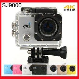 Wholesale SJ9000 Wifi Sports Camera Ultra K Full HD FPS Sport Action Camera MP Sensor DV GOPRO HERO Style Camera