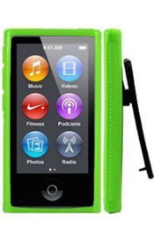 New Candy Color TPU Rubber Skin shock proof defender Case Cover with Belt Clip for iPod Nano 7 7G