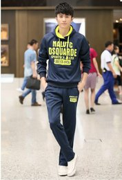 Wholesale 2016 Spring And Autumn Man Sweater Casual Sportswear Mens Hooded Painted Maseratied Pulloer Men s Sport overcoat Tracksuits