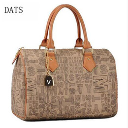 DATS High quality designer handbags Boston Monog canvas fashion handbags leather handle with bronzing oxidationDHL speedy shipping