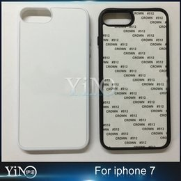 Wholesale 2D Sublimation Heat Press PC and TPU Cover Case With Aluminium Plates DHL Free for iPhone plus