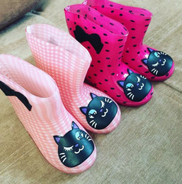 Fashion Children toddler rainboots girl boy cartoon soft rubber jelly rain boots kids hiking non slip shoes colorful 5.91''-7.48'' gift