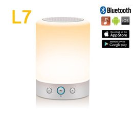 Wholesale Romantic atmosphere colorful night lamp L7 with HD audio bluetooth TF card music playback FM radio alarm clock touch control