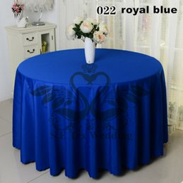 Royal Blue Color 100% Poly Table Cloth For Wedding Hotel Party Decoration