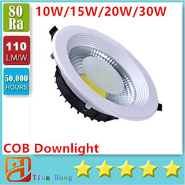 Sample COB LED Recessed Ceiling 10W 15W 20W 30W Lighting Down Light Spotlight AC85-265V Warm White(3000K) Cool White(6500K)