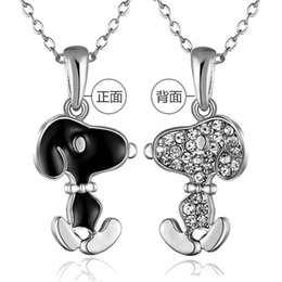 Wholesale 2016 Lovely Simple Animal Silver Dog Pendant Necklace From Animated Film as a Christmas Gift on