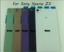 Wholesale OEM New Mobile Phone Shell For Sony Xperia Z3 D6603 D6633 Housing Back Case Battery Cover Door With Sticker Tracking Number