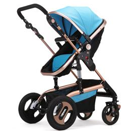 Wholesale Fashion Highview Baby Stroller for months Kids Foldable Bidirectional Big Wheels Children Pushchair Portable Baby Pram