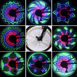 Wholesale Color Changing Bike Wheel Light RGB LEDs Modes Spoke Light Water Resistant Anti shock Bike Bicycle Decorate Light