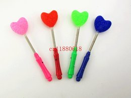 Wholesale Star Shaped Glow Sticks - Free Shipping LED glow star wand glow star rose heart shaped stick flashing light glow stick for concert and party supplier