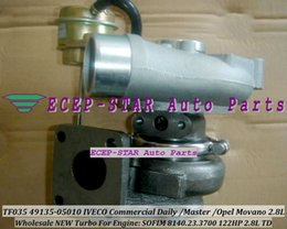 NEW TF035 49135-05010 Turbo Turbocharger For IVECO Commercial Daily 2.8L TD Renault Master Opel Movano SOFIM 8140.23.3700 122HP