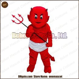 Costume de mascotte de commande à vendre-Costume de mascotte de diable de Lil expédition libre, adulte bon marché de bande dessinée de mascotte de démon de peluche de haute qualité, acceptent l'ordre d'OEM.