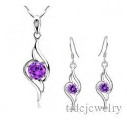 Wholesale Corea jewelry jewelry processing eight heart eight arrows zircon pendant necklace B90A45
