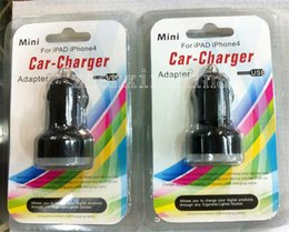 Wholesale Hot sale Dual usb port car charger A A car charger retail package for iphone for samsung htc xiaomi