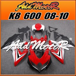 Wholesale Addmotor Bestselling Injection Mold Fairings Fit Suzuki GSX R600 GSX R750 GSXR600 K8 BodyKit Red White S6863 Five Gifts