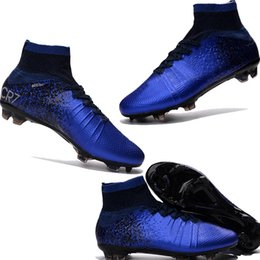 Wholesale MERCURIAL SUPERFLY CR SG PRO adult children s high soccer shoes Natural Hard turf with CR7 Outdoor women kids soccer shoes