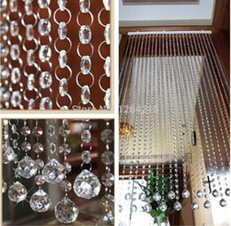 Wholesale 400 meter acrylic clear crystal modern style beaded curtain flocked curtain use for living room etc decration