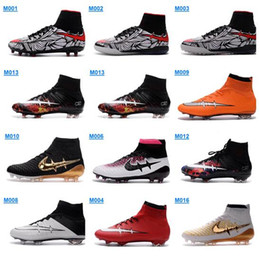 Wholesale 2016 Neymar Men Mercurial Superfly FG Soccer Boots CR7 Cleats Laser High Quality Men Magista shoes Soccer Shoes Hypervenom Football Shoes