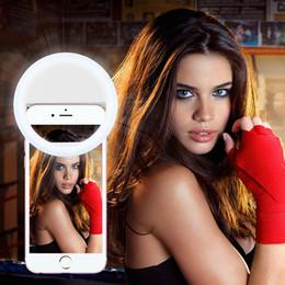 Descuento anillo de luz led de la cámara Selfie Cámara Portátil Led Fotografía Anillo Luz Mejora de la Fotografía para Smartphone iPhone Samsung Rosa Blanco Negro