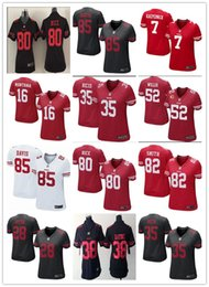 Wholesale 2016 football jerseys San Francisco cheap ers Joe Montana Colin Kaepernick Eric Reid women soccer rugby t shirts Size S XL