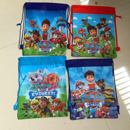 Wholesale 36pcs Cartoon Paw Patrol Snow Slide Star Wars bag Theme Travel Home Clothing Organizer Storage Bags School bag bk44